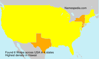 Surname Walpa in USA