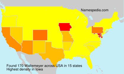 Surname Waltemeyer in USA