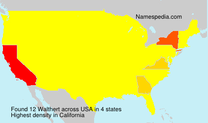 Surname Walthert in USA