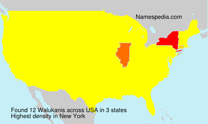 Surname Walukanis in USA