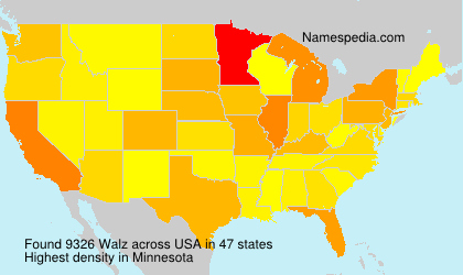 Surname Walz in USA