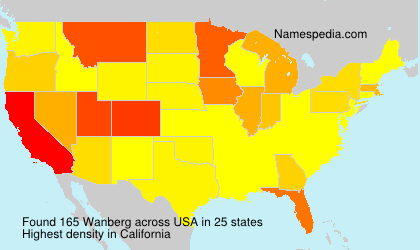 Surname Wanberg in USA