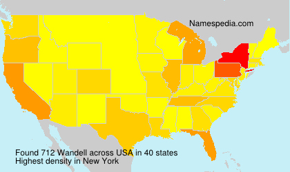Surname Wandell in USA