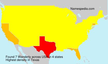 Familiennamen Wanderly - USA