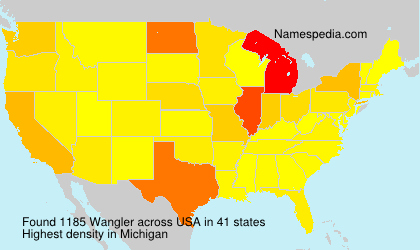 Surname Wangler in USA