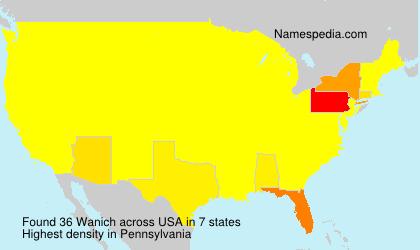 Surname Wanich in USA