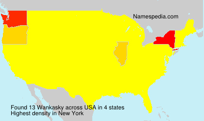 Surname Wankasky in USA