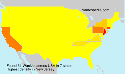 Surname Wanklin in USA