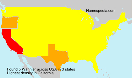 Surname Wannier in USA