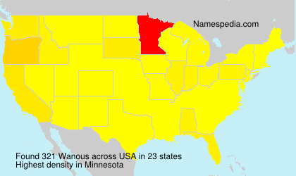 Surname Wanous in USA