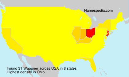 Surname Wappner in USA