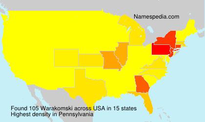 Surname Warakomski in USA