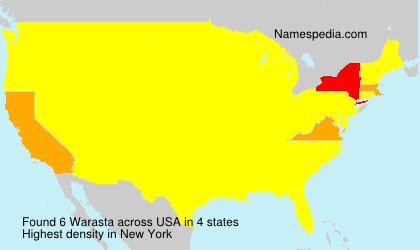 Surname Warasta in USA