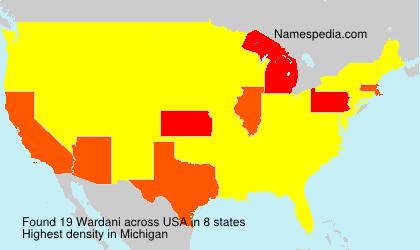 Surname Wardani in USA