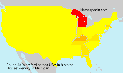 Surname Wardford in USA