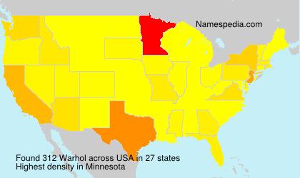 Surname Warhol in USA
