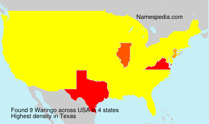 Surname Waringo in USA
