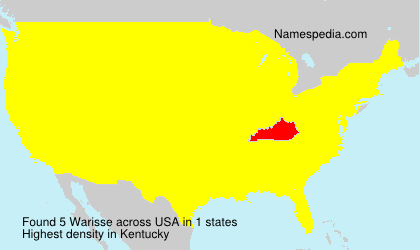 Surname Warisse in USA