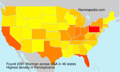 Surname Warman in USA