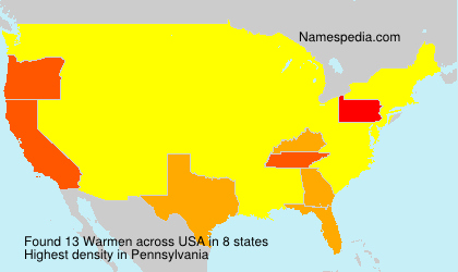 Surname Warmen in USA