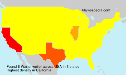Surname Wartenweiler in USA