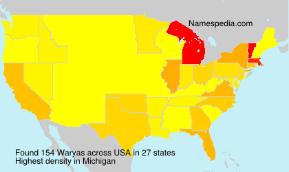 Surname Waryas in USA