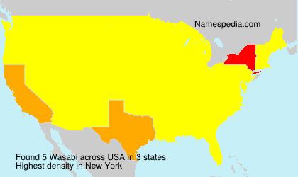 Familiennamen Wasabi - USA