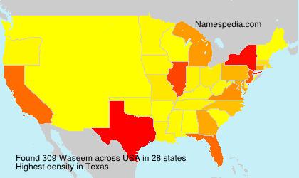 Familiennamen Waseem - USA