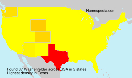 Surname Washenfelder in USA