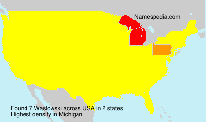 Surname Waslowski in USA