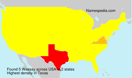 Surname Wassay in USA