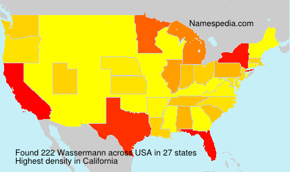 Surname Wassermann in USA