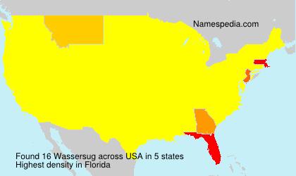 Familiennamen Wassersug - USA