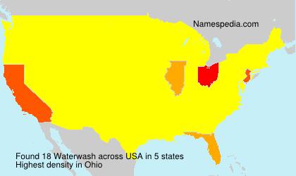 Surname Waterwash in USA