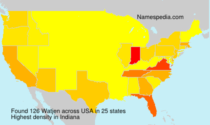 Surname Watjen in USA