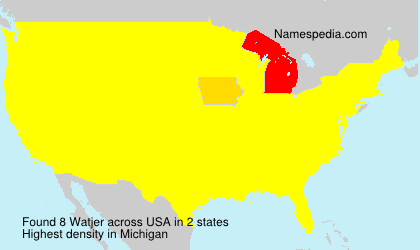 Surname Watjer in USA