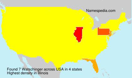 Surname Watschinger in USA