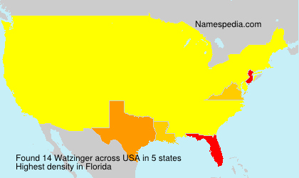 Surname Watzinger in USA