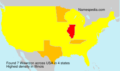 Surname Wawrzon in USA