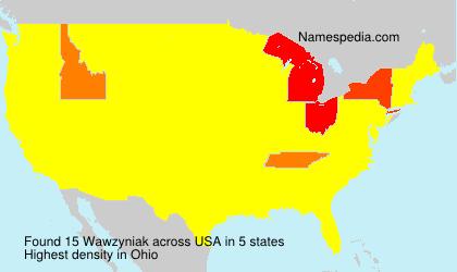 Surname Wawzyniak in USA