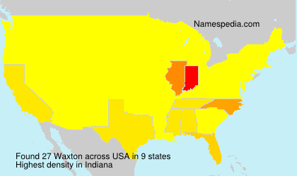 Surname Waxton in USA