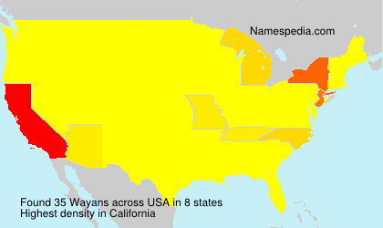 Surname Wayans in USA