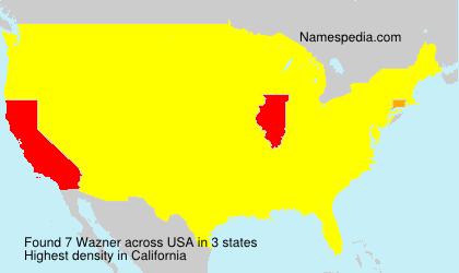 Surname Wazner in USA