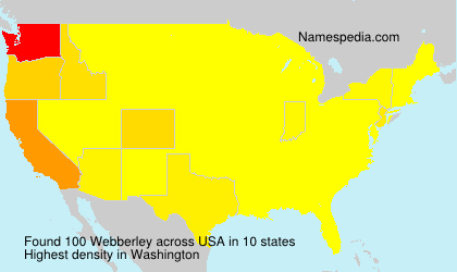 Surname Webberley in USA