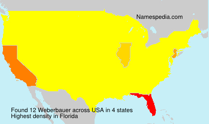 Surname Weberbauer in USA