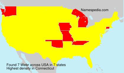 Surname Webr in USA