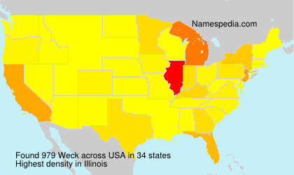 Surname Weck in USA