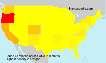 Surname Wecks in USA