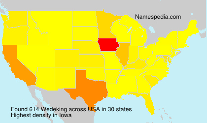 Surname Wedeking in USA