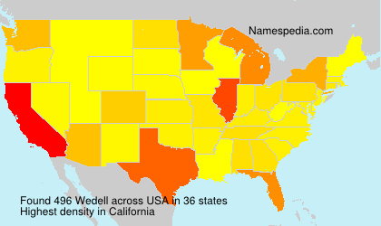 Surname Wedell in USA